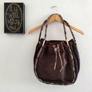 Paolo Masi 💜 Designer Leather Hobo Bag Snake Gold